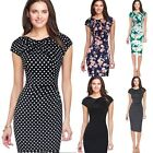 Elegant Womens Office Lady Formal Business Work Party Floral Sheath Pencil Dress