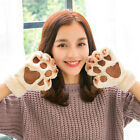 Unisex Fall Winter Warm Thicken Cute Kitten Cat's Paws Flannel Couples Gloves