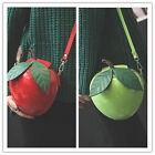 NEW Street Fruit Apple 3D Shaped Clutch Tote Bags Daily Evening Handbag K