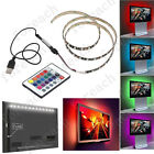 1M/2M/3M/4M 5050 60SMD/M RGB 5V LED Strip Light TV Back Lighting Kit+USB Remote