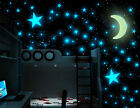 Glow In The Dark 1Moon & Stars Plastic Sticker Ceiling Wall Art Home Party Decor