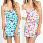 SUPERDRY Summer Bandeau Lagoon Midsummer Flower Dress in Floral   (rst53.429)