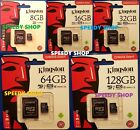 Micro SD 8 GB 16 GB 32 GB 64 GB 128GB Scheda Memoria CLASS 4 10 Kingston MicroSD