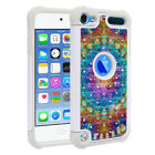 For Apple iPod Touch 6 6th/ 5 5th Gen Design Dual Layer Hybrid Bling Case Cover