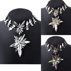Women Beautiful Rhinestone Necklace Jewelry Bib Statement Pendant Choker Chunky