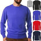 MENS NEW CLASSIC SWEATER JUMPER SWEATSHIRT TOP CASUAL RIBBED WORK WEAR COLOURED