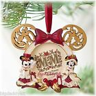 New Disney Parks Victorian Minnie and Mickey Mouse Photo Frame Tree Ornament