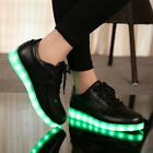 Unisex LED Light Lace Up Luminous Top Shoes Sneaker USB Kids Sportswear Colorful
