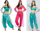 Halloween Aladdin Princess Jasmine Fancy Dress Womens Top Pants Cosplay Costume
