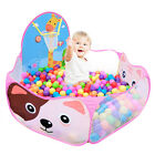 Portable Kids Child Cat Ball Pit Pool Play Tent For Baby Indoor Outdoor Game Toy