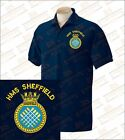 HMS SHEFFIELD T42 Embroidered Polo Shirts