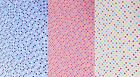 Small Colourful Spots Polka Dots Cotton Fabric - Choice of Colours & Sizes