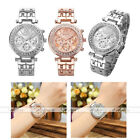 1pc Women Fake Small Dials Rhinestone Wristband Alloy Quartz Analogue Watch