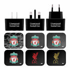 LIVERPOOL FC LFC CREST LIVERBIRD BLACK UK CHARGER MICRO-USB CABLE FOR SAMSUNG 2