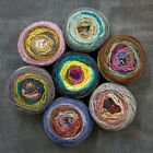 Freia Fine Handpaint Flux Worsted Self Striping Gorgeous Yarn- Hand Dyed in US