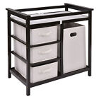 Infant Baby Changing Table with 3 Basket Hamper Diaper Storage Nursery US
