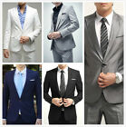 Mens Formal Jacket Slim Fit One Button Suit Pop Blazer Coat Jacket New