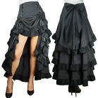 Chicstar Victorian Burlesque Gothic Three Tiered Ruffled Bustle Skirt