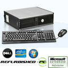 CLEARANCE!! Fast Dell Desktop Computer PC Core 2 Duo XP/Win 7/ Win 10+Keyb+Mouse
