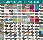 WIPE CLEAN TABLECLOTH PVC VINYL OILCLOTH DINING KITCHEN TABLE COVER PROTECTOR
