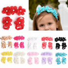 Hot Baby Girl Kids Barefoot Sandals Shoes Headband Crystal Flower Foot Band 3pcs