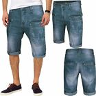 NEW MENS DENIM CARGO COMBAT SHORTS JEANS PANTS SUMMER KNEE LENGTH CASUAL W30-W44