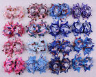 lot 9/30/50/100pc 4inch Disney Frozen Elsa&Anna ribbon Hair Bows Clip(16 colors)