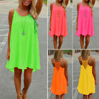 New Women Summer Casual Sleeveless Evening Party Short Mini Dress Beach Sundress
