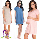 Maternity Pregnancy Nursing Breastfeeding Nightdress Nightie 100% COTTON
