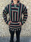 Hoodie Baja,Surfer Mexican Poncho Sweater Rasta color,choose size,XXL,Xl,L,M,S.
