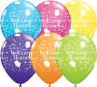 """Qualatex Welcome Home 11"""" Bright Colour Party Balloons for Helium or Air"""