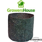 Growers House Essentials Round Fabric Charcoal Pots 7 Gal Pick 12/24/50/100/200