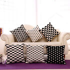 Newest Art Deco Vintage Black and White Home Linen CUSHION COVER PILLOW CASE HOT