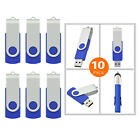 Wholesale Bulk 10/20/50/100 Blue 8GB USB2.0 Flash Pen Drives Thumb Pen Drive NEW
