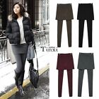 NEW Warm Pencil Seamless Stretchy Full Length Leggings with Skirt Long Trousers