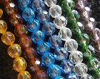 QUALITY GLASS BEADS - FACETED - ROUND - 10 mm - 1 Strand -  #F10