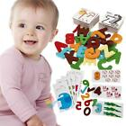 Wooden Alphabet Letters Numeral Cards Kids Baby Early Learning Educational Toy A