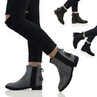 WOMENS CHELSEA PULL ON BOW ELASTIC RIDING BIKER LADIES CASUAL FLAT ANKLE BOOTS