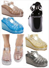 New Women's T-Strap Retro Jelly Gladiator High Heel Platform Wedge Sandals Shoes