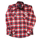 Factory Effex Official Honda Mens Long Sleeve Button Up Flannel Shirts