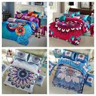 Mandala Indian Duvet Doona Cover Set Cotton Double Queen Quilt Covers Bohemian