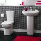 Knedlington 4 Piece Bathroom Modern Suite Toilet WC Basin, Pedestal, Seat
