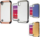 For LG Tribute HD IMPACT HYBRID Plating Protector Case Skin Phone Cover