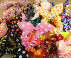 new hot Mix rabbit ears chiffon Dots hair elasticity Hair ring wholesale A12