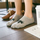 Women Cotton Loafer Boat Non-Slip Invisible Low Cut No Show Leaf Socks Chic
