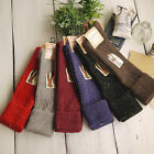 Warm Women's Turn Up Rib Dot Wool Blend Long Knee High Boot Socks young New Gift