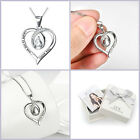 Sterling Silver I Love You Heart Pendant Necklace Birthday Wife Mom Gift...