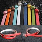 Girl Belt Thin Women Accessories 8 Candy Colors Waist Belt Faux Leather