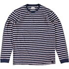 Edwin Tokyo Blues Long Sleeve Striped T Shirt Navy Pink