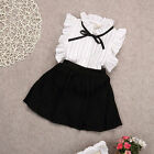 2pcs Toddler Kids Baby Girls Outfits T Shirt Tops+Shorts Skirts Clothes Set